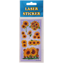 Laser Sticker in den Design Sonnenblumen 1