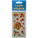 Laser Sticker in den Design Sonnenblumen 2